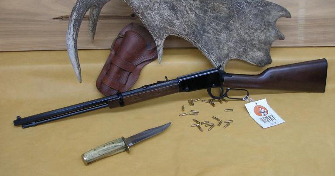 Henry Lever Action .22 Rifle W. Octagon Barrel